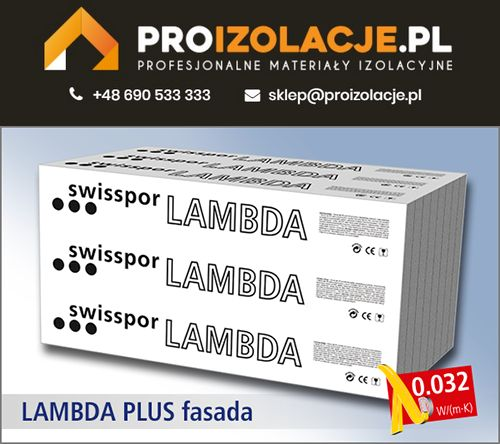 Styropian Grafit LAMBDA PLUS FASADA 0,032 / SWISSPOR w super cenie !!!
