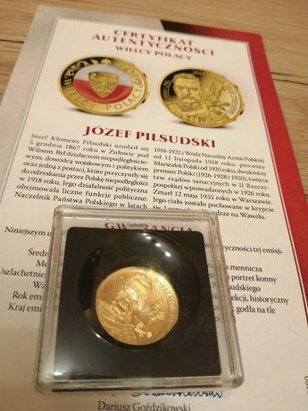 Sprzedam medal okolicznościowy złoty PR. 585 Bardzo maly naklad!!!