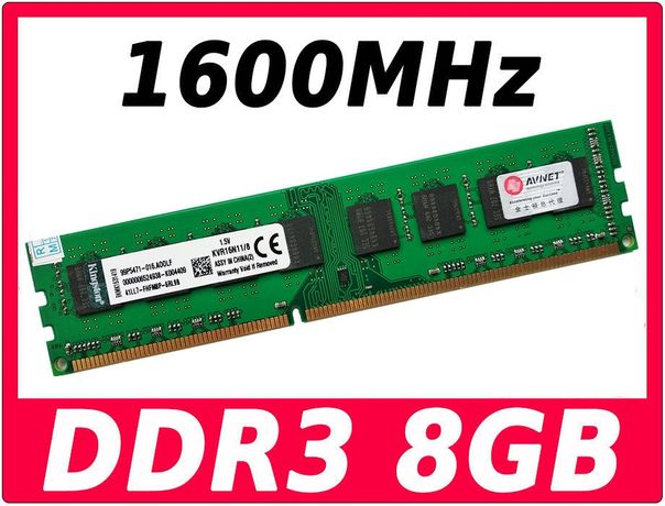 Оперативная память DDR3 8Gb 1600MHz PC3-12800 Kingston KVR16S11/8