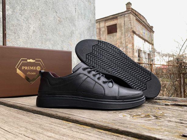 Мужские кожаные кроссовки мокасины Prime (3 модели). Натуральная кожа
