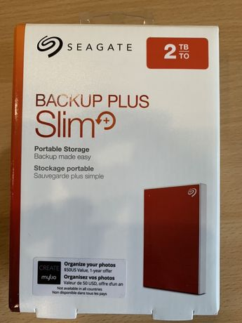 Внешний HDD диск Seagate Backup Plus Slim 2TB USB 3.0