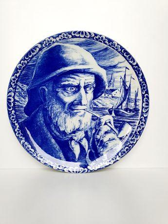 Porcelanowy duży talerz ozdobny Boch