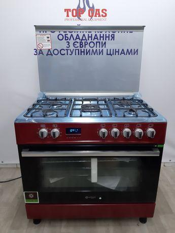 Нова Професійна Газова Плита Wiggo з електричною духовкою