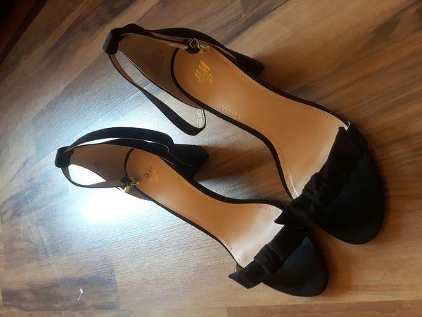 Sandały czarne H&M r. 37