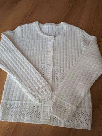 sweter dziewczęcy biały