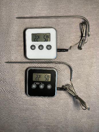 Кулинарный/кухонный/пищевой термометр с выносным щупом и сигналом