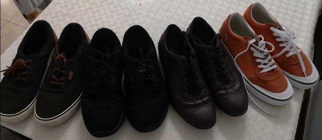 Conjunto 4 pares calçado homem nr 44-45 a bom preço!
