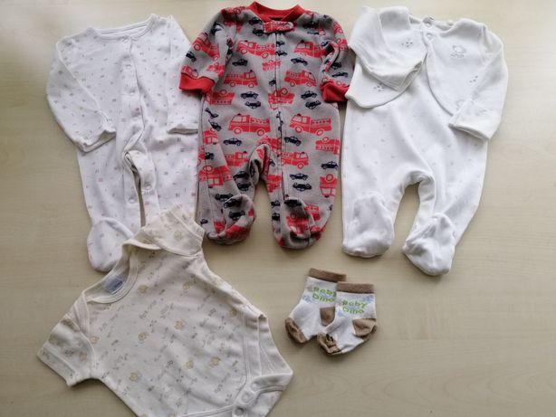 На новорождённого мальчика, р.50-56,человечки Carters, боди, носочки.