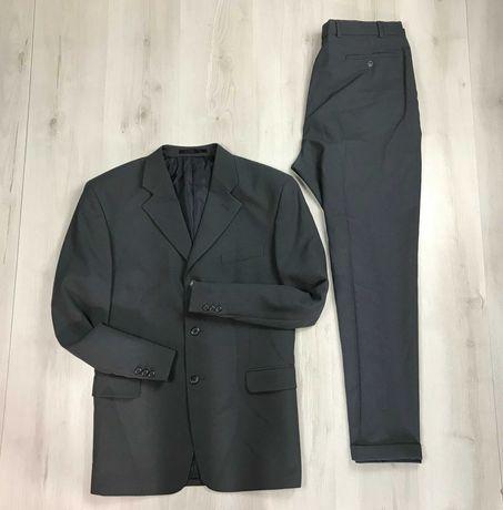 XL Костюм темный классический пиджак/классические брюки Savatini