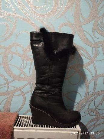 Сапоги зима кожаные