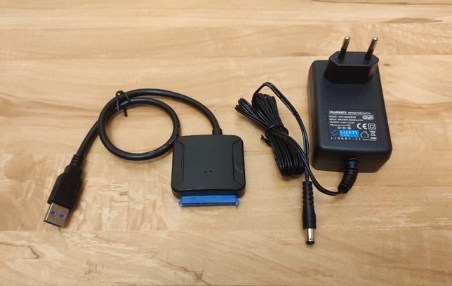 "Адаптер USB 3.0 на SATA для HDD/SDD 2,5/3,5"" или DVD, с блоком питания"