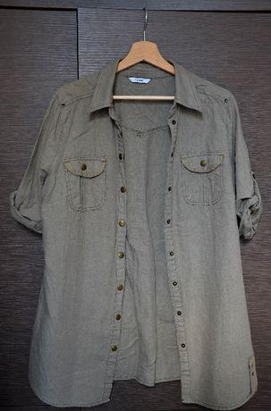 koszula khaki zielona militarna oversize