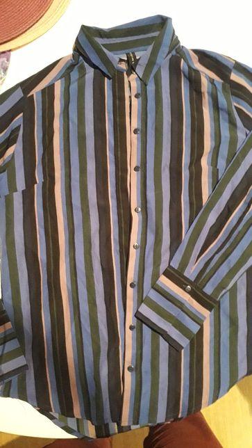 Bluzka koszula w paski Amisu r. S/zm