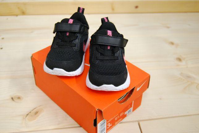 NIKE REVOLUTION 5 TDV czarno różowe rozm 18,5 buty dziecięce