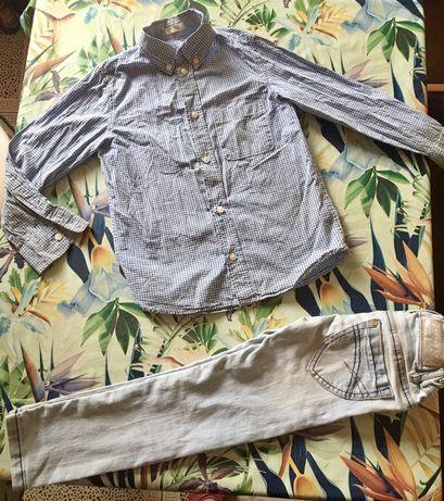 Одяг для хлопчиків 1 го класу, сорочнчки, джинсики, шортики, стан ново