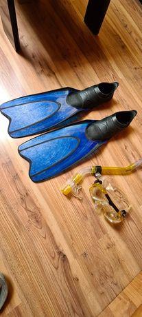 Płetwy maska i fajka zestaw do pływania
