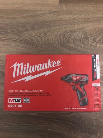 Milwaukee 2401-22 M12 імпакт шуруповерт