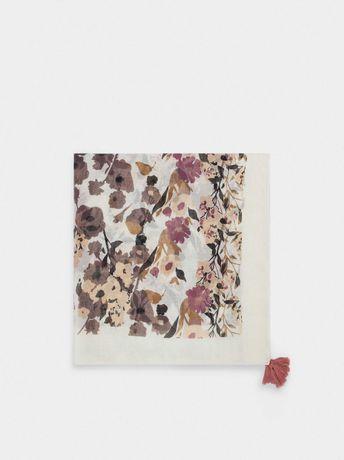 Lenço estampado floral | Parfois | c/oferta