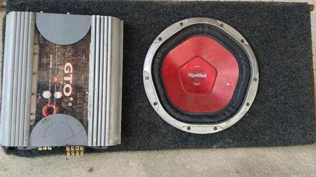 Amplificador e subwoofer