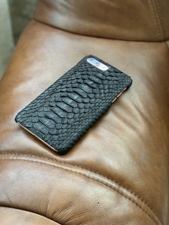 Чехол на айфон 8+, 7+ кожа змеи натуральная
