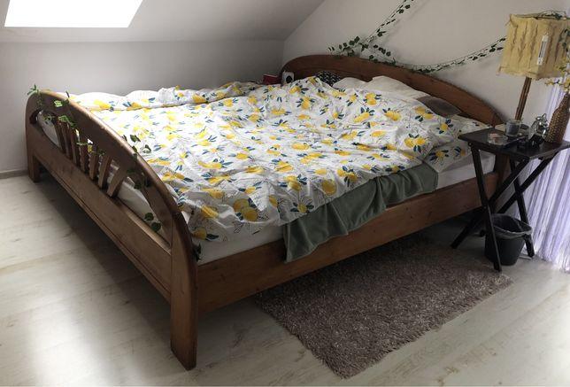 Drewniane łoże małżeńskie 200x200