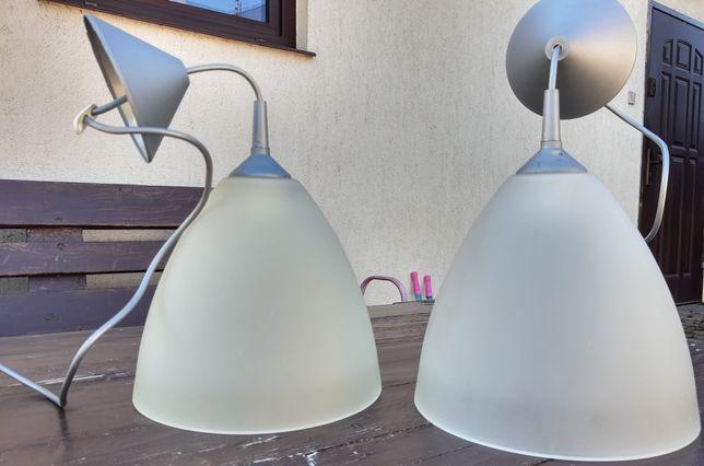 Lampa wisząca E27, szklany klosz, dwie sztuki