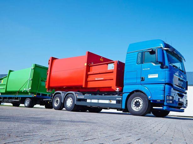 Transport ziemi, gruzu, odpadów , maszyn, wózków, hakowiec, kontener