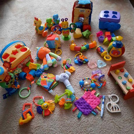 Mega zestaw zabawek gryzaki sortery kula hula zawieszki