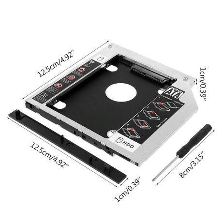 """Оптибей,карман SATA III для второго диска 2,5""""HDD SSD SATA 12,7мм мм"""