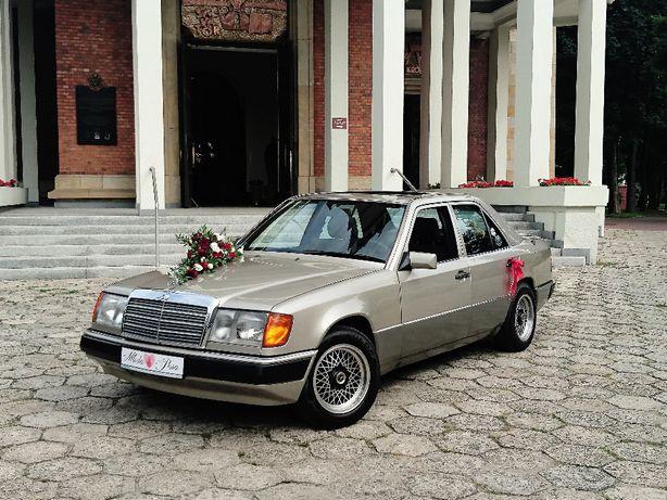Weselny Mercedes Benz w124 - samochód auto do ślubu