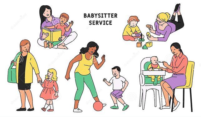 Fico com criança babysitter ama