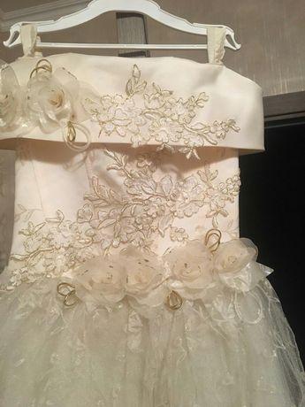 Платье цвет айвари садик школа свадьбы цена -250грн