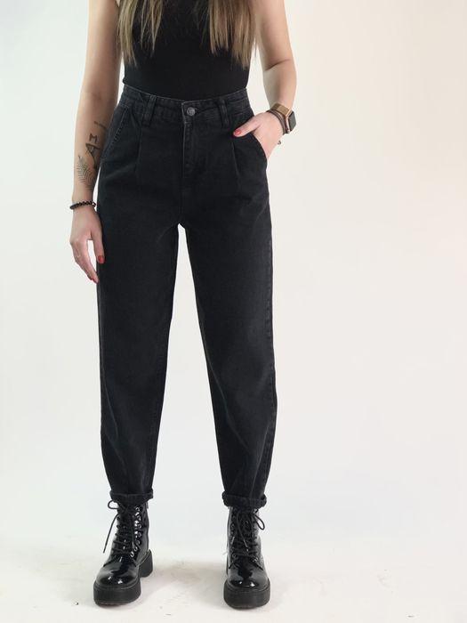 Темно-серые джинсы слоучи с защипами HMU Черновцы - изображение 1