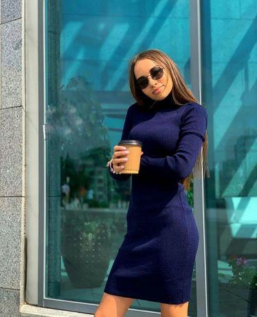 Нове в'язане плаття-гольф на весну