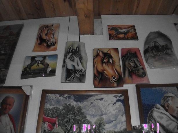 Obrazy o tematyce końskiej 48 zł sztuka + gratis do każdego