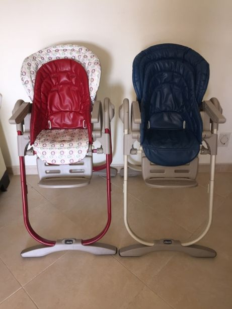 Duas cadeiras refeição Chicco Polly Magic 0m+
