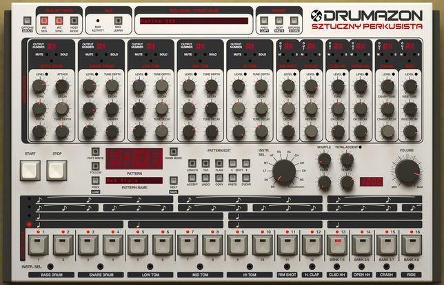 Drumazon D16 plugin VSTi Roland TR 909