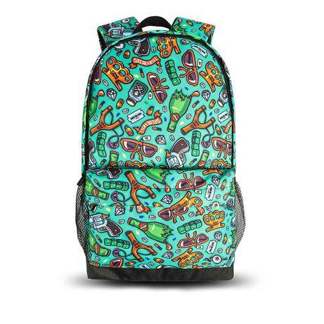 Рюкзак городской молодежный. БЕЗ ПРЕДОПЛАТЫ Рюкзак с принтом 12 цветов