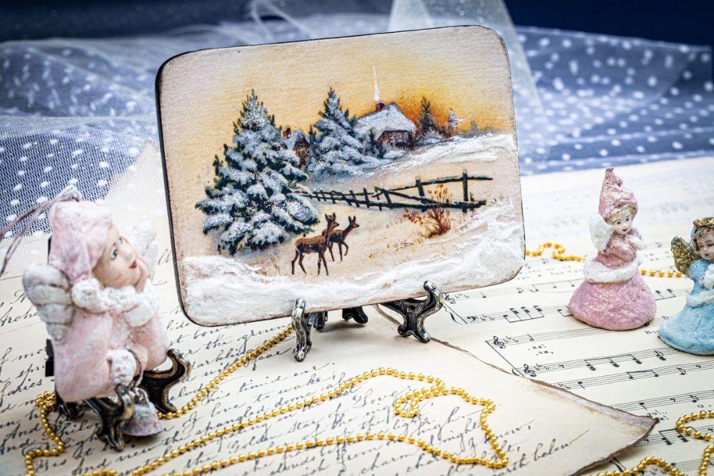 Панно Рождественское утро украшение декор сувенир подарок Мелитополь - изображение 1