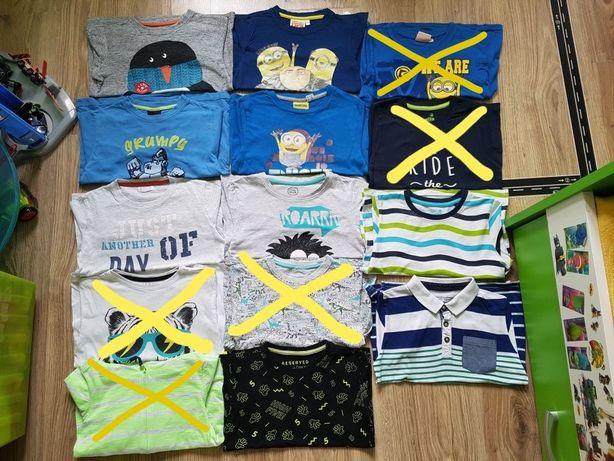 Koszulka polo bluzka paski bluza Minionki długi krótki rękaw r.110