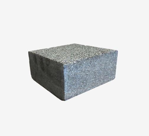 Czarna GABRO kostka granitowa z Ukrainy - CIĘTA płomieniowana 10x10x5