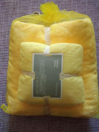 Продам полотенца. Жёлтые полотенца
