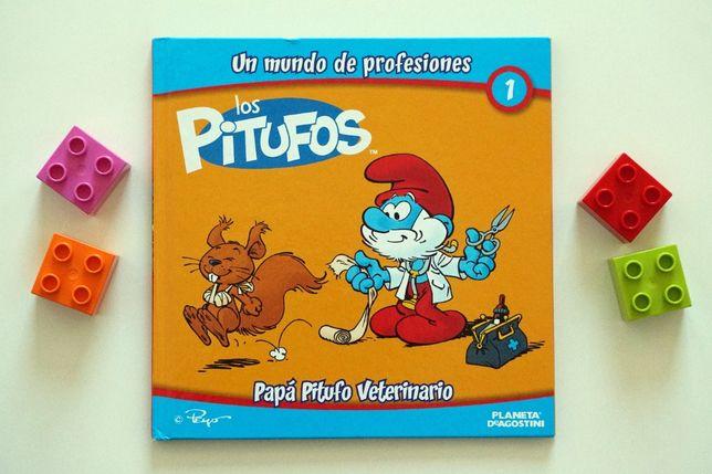 """Los pitufos - veterinario"" - hiszpańska książeczka dla dzieci"