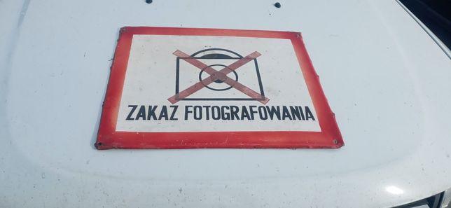Tablica zakaz fotografowania