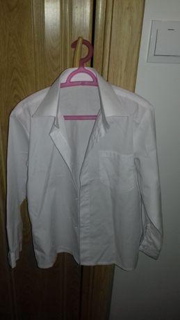 Koszula biała chłopięca 122 rozmiar