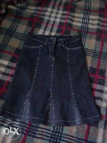 Юбка джинсовая стрейч черная р. M