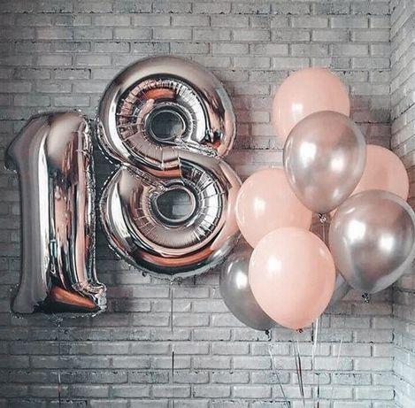 Шарики фольгитированные шары фольга цифра цифры 86 см
