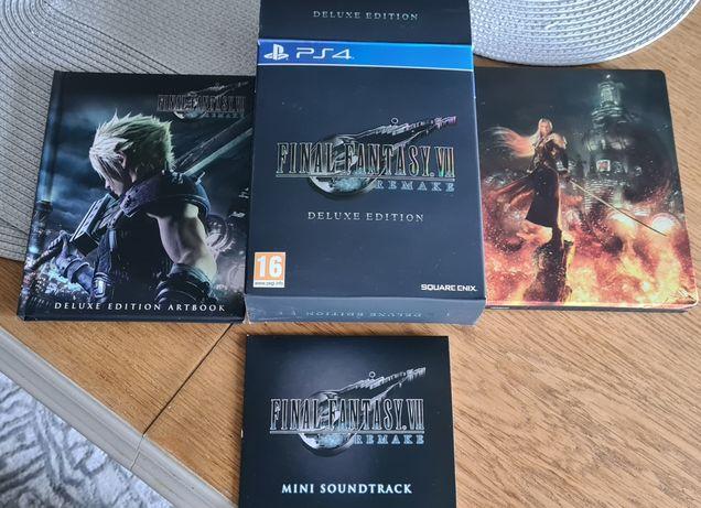 Final Fantasy VII Remake Deluxe edition PS4 - DODATKI BEZ GRY !