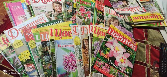 Журналы Цветок, Домашние цветы, есть 500 шт