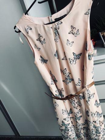 Sukienka w motylki, r 40